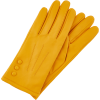 Monsoon lily leather gloves in yellow - Guantes -