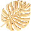 Monstera Leaf gold-plated brooch - Other jewelry -