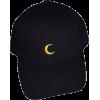 Moon Embroidery Cap - Cap -
