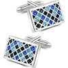 Mosaic blue cufflinks (Mr. Van Elegant) - Other jewelry -