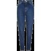 Moto Dark Blue Mom Jeans - Jeans -