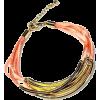Multi Strand Peach Cord Noodle Bracelet  - Bracelets - $17.95