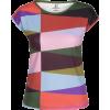 Multi Color Geometric Print T-Shirt - T-shirts - $46.00