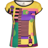 Multi Colored Geometric Print T-Shirt - T-shirts - $46.00