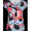 Multi Colored Hand Drawn Print Tee - T-shirts - $46.00