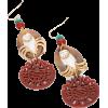 Multi Colored Linear Earrings - Kolczyki -