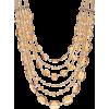 Multicolor Crystal Gold Tone Layered Nec - Uncategorized -