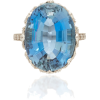 Munnu The Gem Palace Platinum, Aquamarin - Pierścionki - $59.00  ~ 50.67€