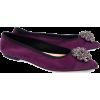 Musette purple velvet balerinas - Flats -