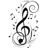 Music notes - Illustrazioni -