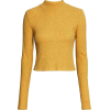 Mustard Turtle Neck Crop - Long sleeves shirts -