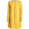 Mustard Yellow Collarless Coat - Jakne in plašči -