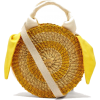 Muuñ Yellow Rosa Straw Bag - Messaggero borse -