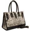 NADIRA White Snow Leopard Print Top Double Handle Office Tote Satchel Hobo Handbag Purse Shoulder Bag - Hand bag - $22.50