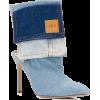 NATASHA ZINKO Washed Denim Pocket Ankle - Boots - $783.00