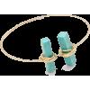NATURAL STONE BRACELET-TURQ - Bracelets - $8.99
