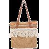 NATURAL CROCHET SHOULDER TOTE - Hand bag -