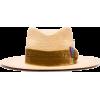 NICK FOUQUET velvet ribbon-trimmed straw - Cappelli -
