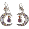 NICKY BUTLER crescent moon earrings - Naušnice -