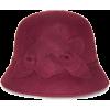 NINE WEST FELT FLOWER CLOCHE HAT - Hat -