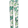 NISSA Slim Pants With Floral Print - Capri hlače -