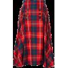 NOIR KEI red & blue tartan skirt - Skirts -