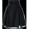 NOIR by KEI NINOMIYA black skirt - Krila -