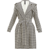 NORMA KAMALI Houndstooth-print belted tr - Chaquetas -