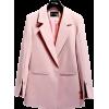 NOTCHED COLLAR DECORATIVE SLEEVE FASHION - Jacket - coats - $41.97