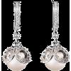 Earrings White - Aretes -