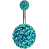 Navel Ring, Teal Navel Ring, Navel,  - Other jewelry -