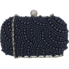 Navy Blue Pearl Clutch Bag - 女士无带提包 - $25.00  ~ ¥167.51