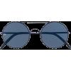 Navy Blue Sunglasses - サングラス -