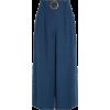 Navy Linen Pants - Pantalones Capri -