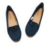 Navy Moccasin - Moccasins -