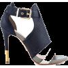 Navy & White Sandals - Sandals -