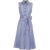Navy & White Striped Dress - Illustrazioni -