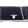 Navy blue suede clutch - Clutch bags -