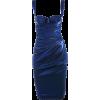 Navy drape dress - Vestidos -