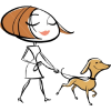 Woman&Dog - Ilustracje -