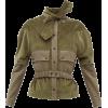 Neck-tie detachable-sleeve cotton-cordur - Jacket - coats -