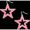Neon Pink Star Drop Earrings - Earrings -