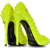 Neon Yellow High Heels Pop Studded Pump - Classic shoes & Pumps - $1,495.00