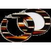 New Look stripe loop earrings - Kolczyki -