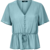 Newlook Petite Green Button Front Peplum - Shirts - £12.99  ~ $17.09