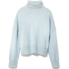 Nili Lotan Light Blue Turtleneck Sweater - Пуловер -