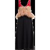 No. 21 Ostrich-feather-trim colour-block - Obleke -