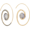 Noor Fares Spiral Moon 18K Gold Diamond - Earrings - $4.23