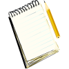 Notebook and Pencil - Ilustrationen -