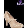 Nude Lotus Floral Print Court Heels - Scarpe classiche - £45.00  ~ 50.85€